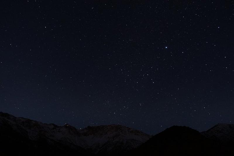 Starry sky, Atlas Mountains