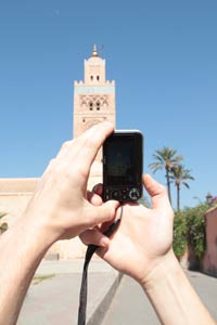 taking photos in Marrakech