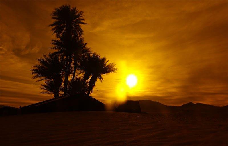 desert near zagora, morocco