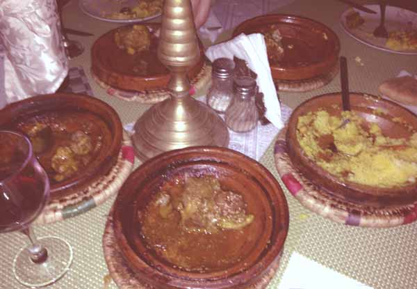 Tagines in Restaurant Jama