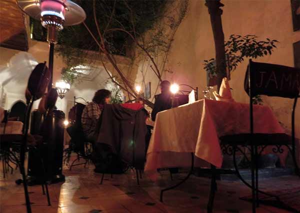 Restaurant Riad Jama Marrakech