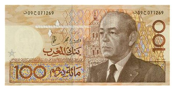 Moroccan money: one hundred Dirham