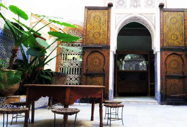 Maison Tiskiwin is housed in a renovated riad