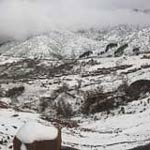 Snow in the High Atlas Mountains