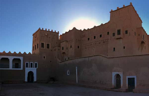 Kasbah Taourirt in Ouarzazate on the way to the desert