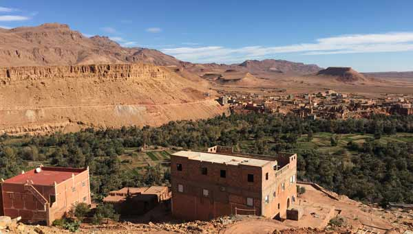 The Dades valley between High Atlas and Sahara