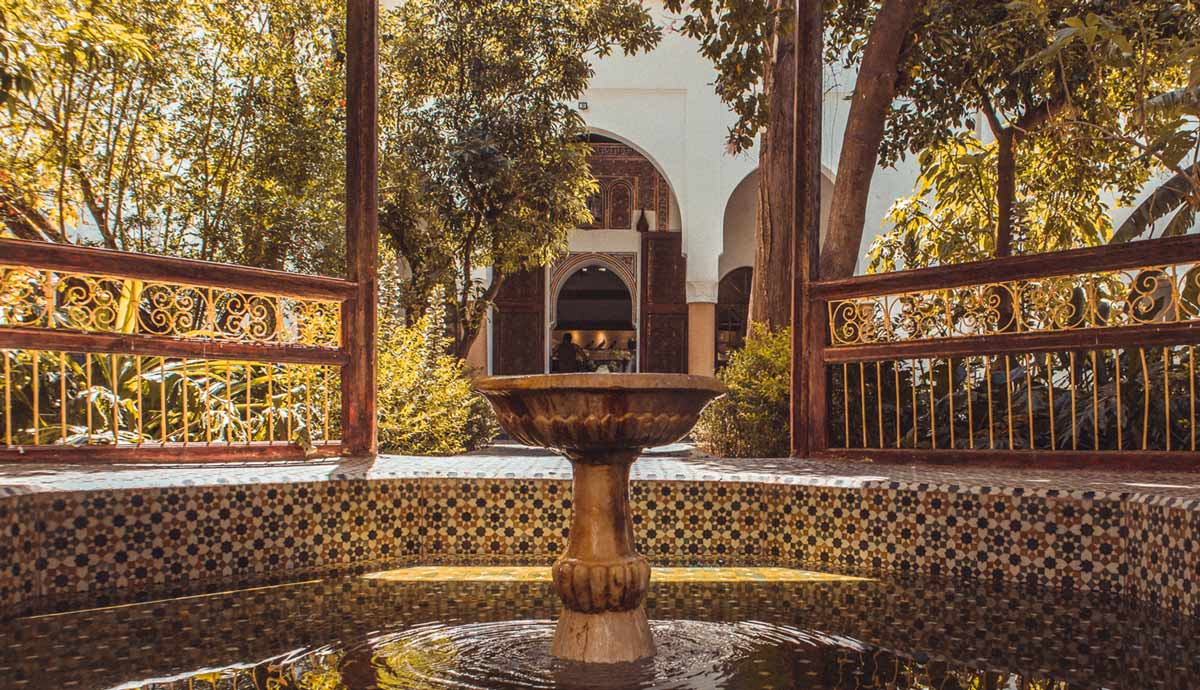 Basin in Dar Si Said Museum Marrakech