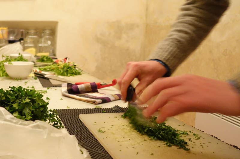Cookery class at House of Fusion Marrakech