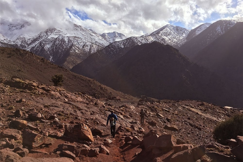 Hiking in the Atlas Mountains of Morocco
