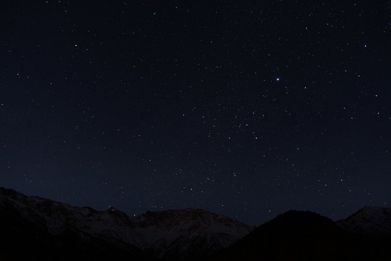 Starry sky, Atlas Mountains