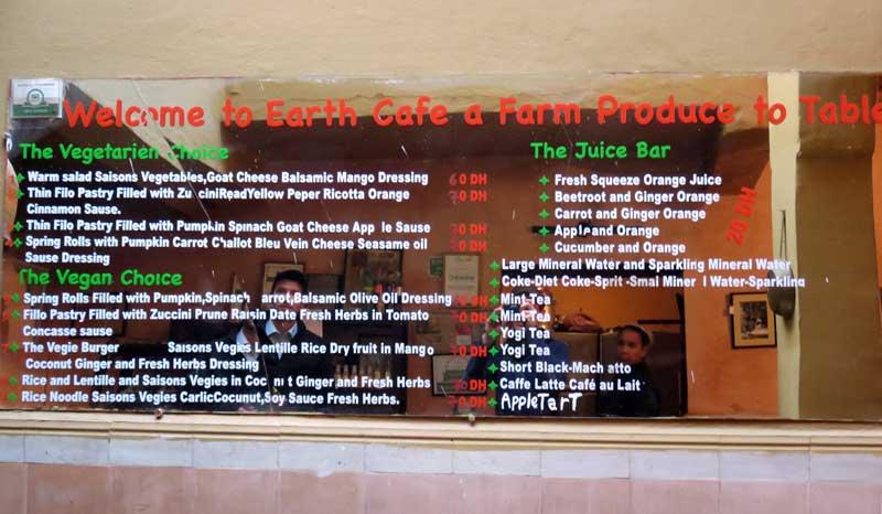 Vegetarian Restaurant Earth Cafe Marrakech