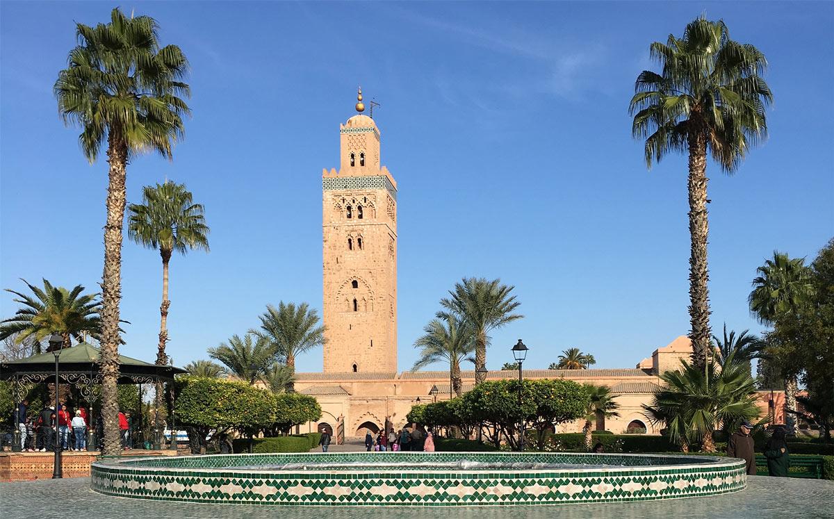 The Koutoubia Mosque The Main Landmark In Marrakech