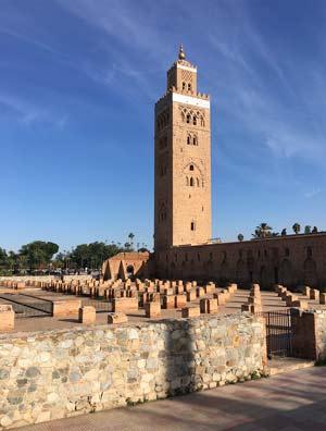 Koutoubia Marrakech original pillar