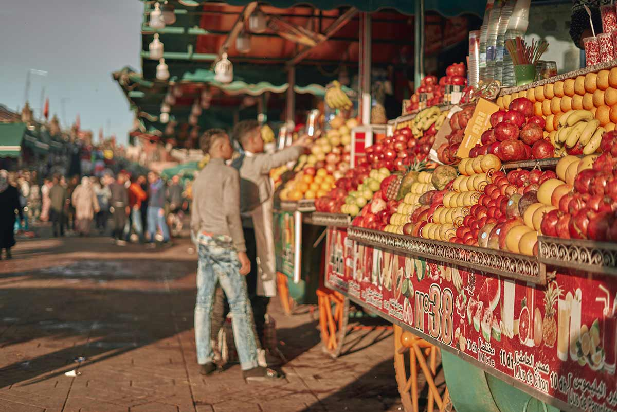 Orange juice scam Marrakech