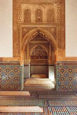 small mausoleum in the saadian tombs