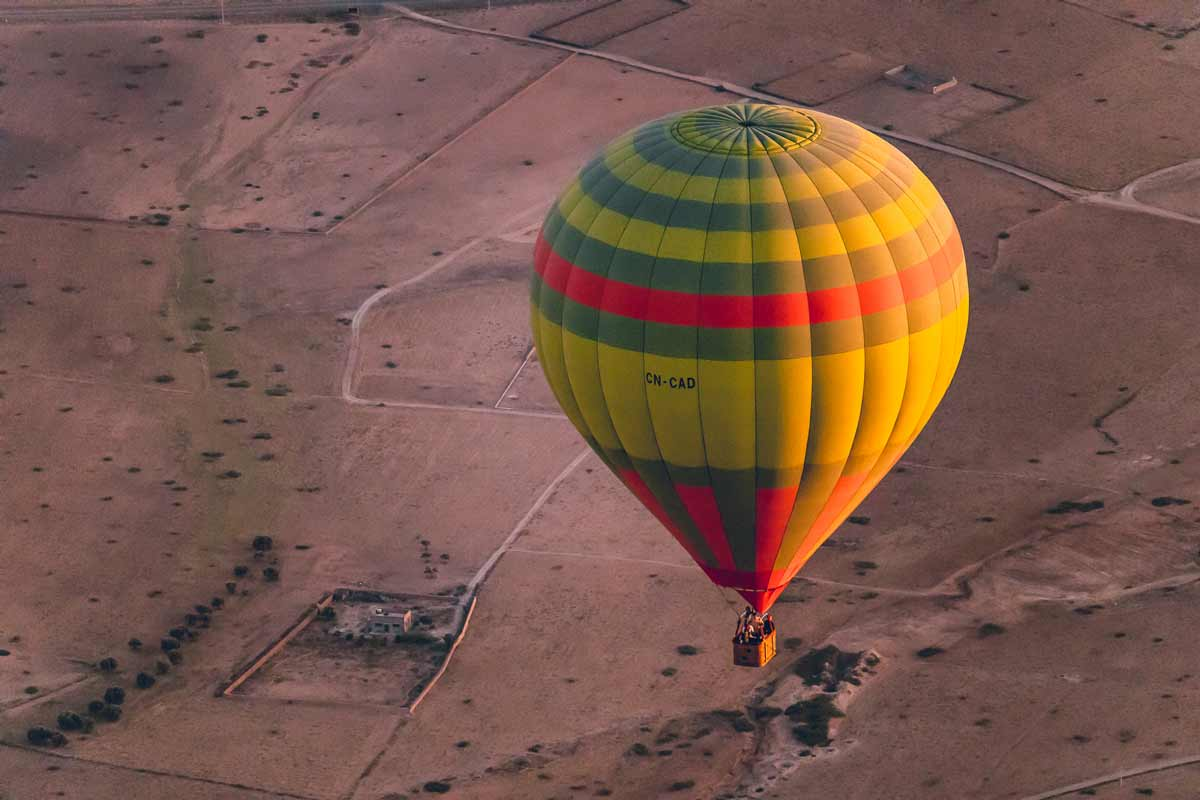 Simply Amazing: Views from a hot air balloon in Marrakech