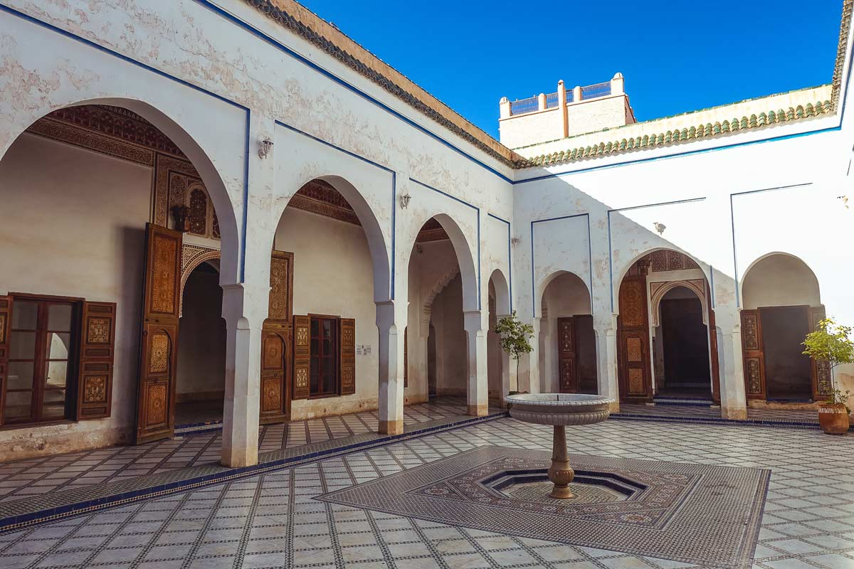 Small courtyard in Bahia Palace Marrakech