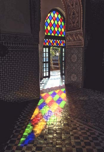 Stain Glass in the Bahia Palace