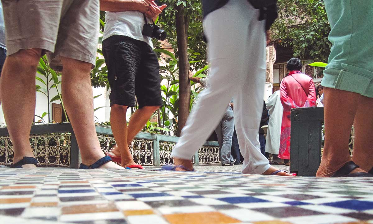 Crowded Sights in Marrakech