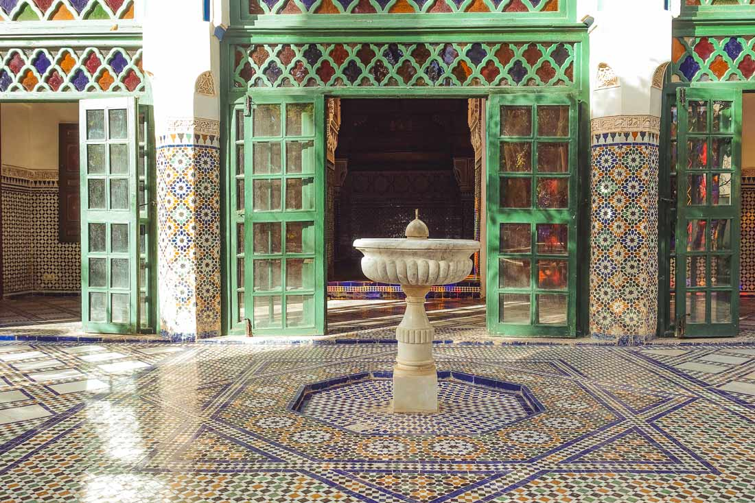 Andalusian architecture in the Bahia Palace Marrakech