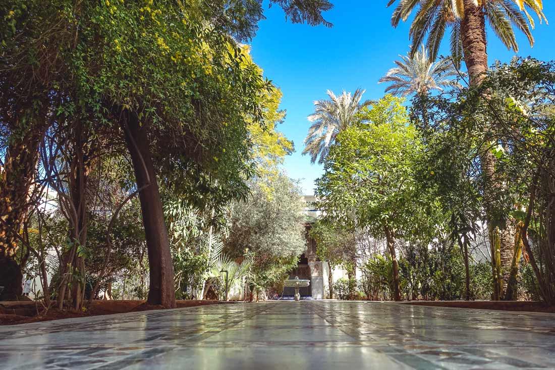 Garden in the Bahia Palace Marrakech