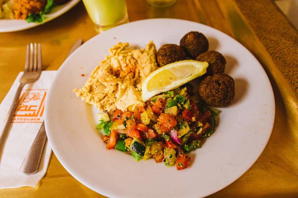Vegan food at Café Clock Marrakech