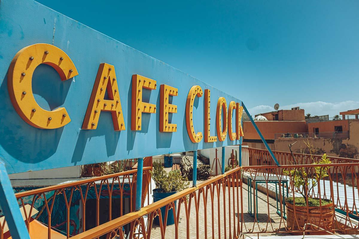 Roof terrace of the Café Clock Marrakech