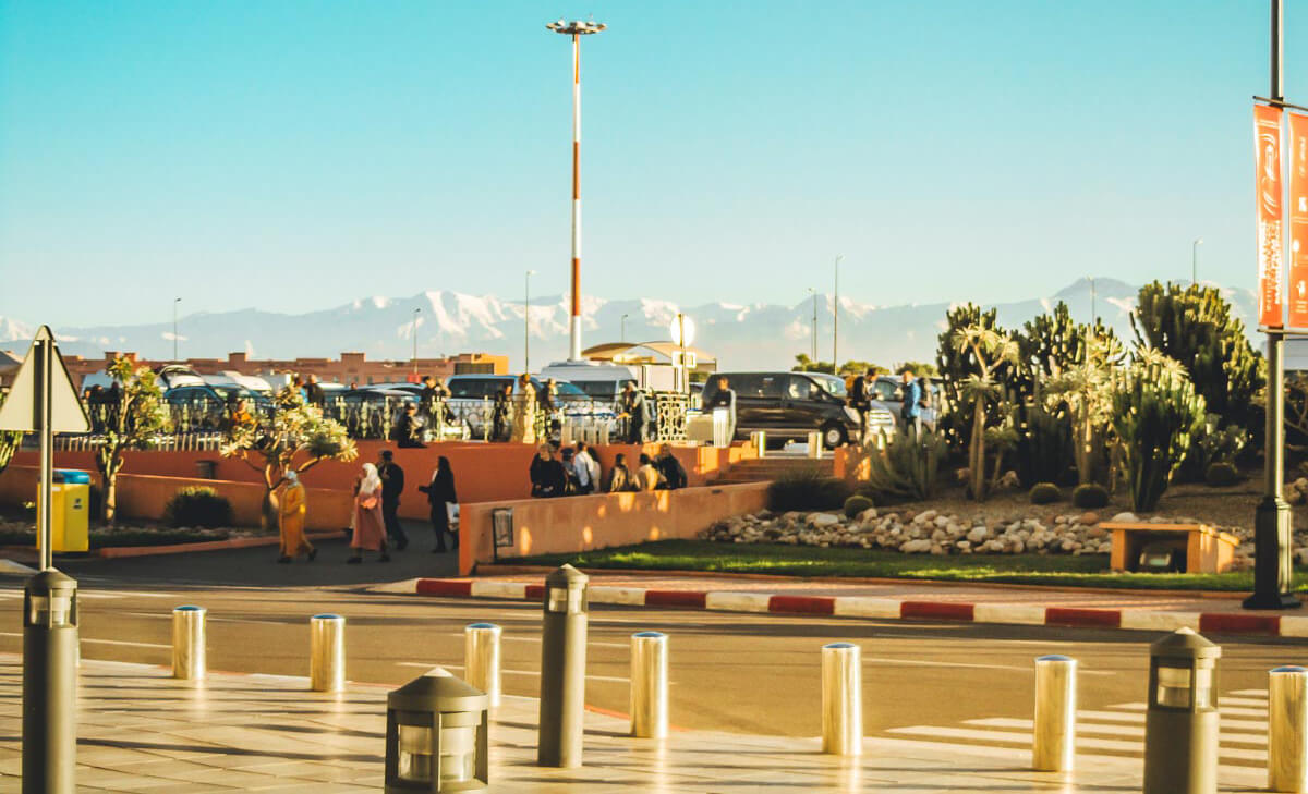 Parking at Airport Marrakech