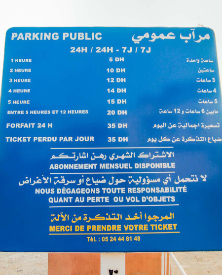 Parking Marrakech Prices