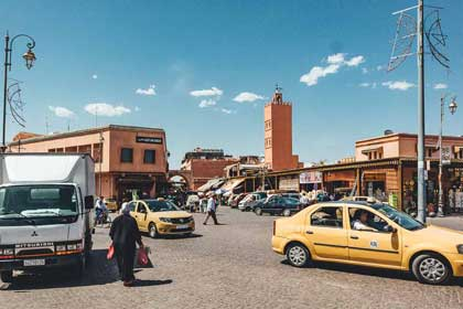 Taxis in Marrakech